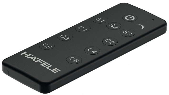 Remote control, for use with premium 6-channel radio receiver, Loox for white LED lights