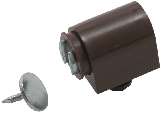 Magnetic catch, 3-4 kg pull with 10 mm dowel, brown