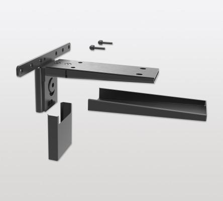 Shelf support for PECASA, for solid wood shelves, PEKA, black