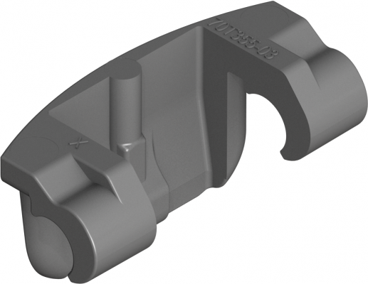 Angle stop for 110° hinge, 86° opening, grey