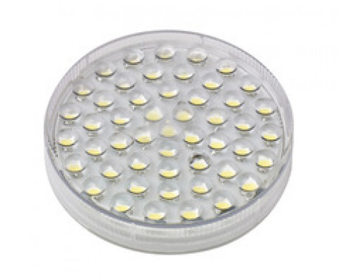 LED GX53, circular lamp for QMINI.FR.SS.LL, 240V/3W, warm white