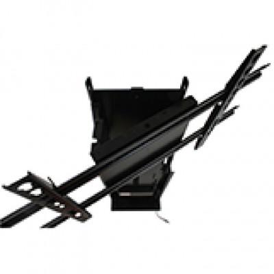 Swivel bracket, manually operated, up to 30ø swivel, black