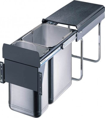 Master pull out recycler, CW=300 mm, 30 litre, (1x10, 1x20litre) WESCO, stainless steel