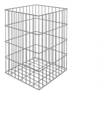 Laundry basket set, tilting door, minimum cabinet width 300 mm, chrome