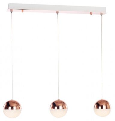 Ceiling bar pendant, adjustable, IP20, 3 Light, LED, Eclipse, mains voltage, copper