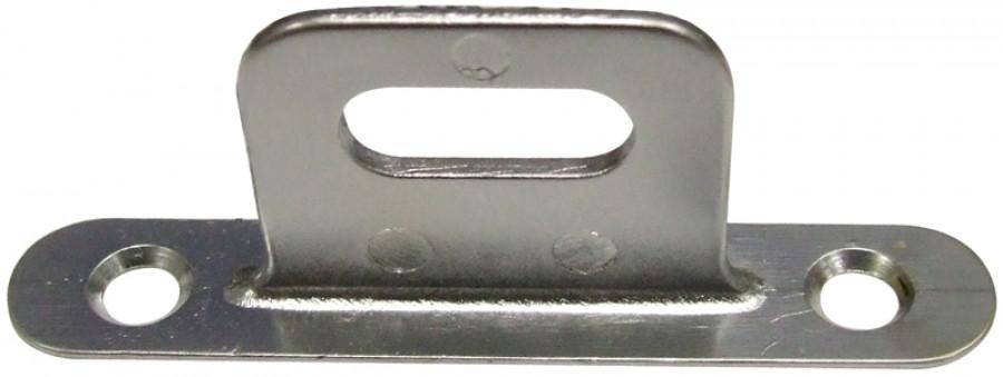 Padlock staple, for use with a padlock, steel, matt chrome