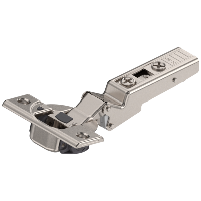 CLIP top BLUMOTION angled hinge 110° for -30° application, OVERLAY, boss: SCREW-ON, nickel