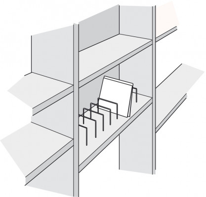 Record divider bar, steel, 175x175 mm, › 5 mm bar, zinc
