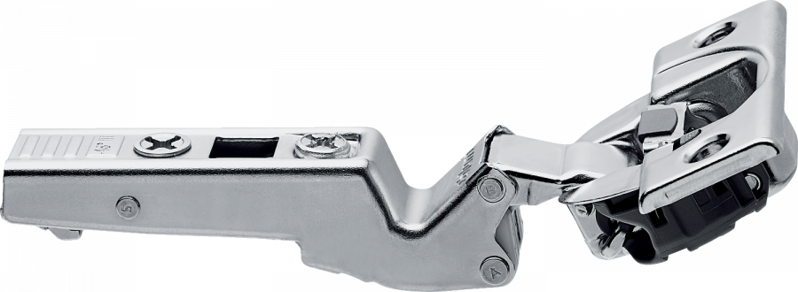 CLIP top BLUMOTION angled hinge 110° for -45° application, OVERLAY, boss: screw-on, NP