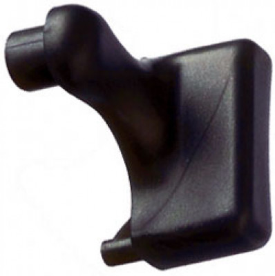 Door handle end cap, for tambour doors, plastic,right , aluminum colour