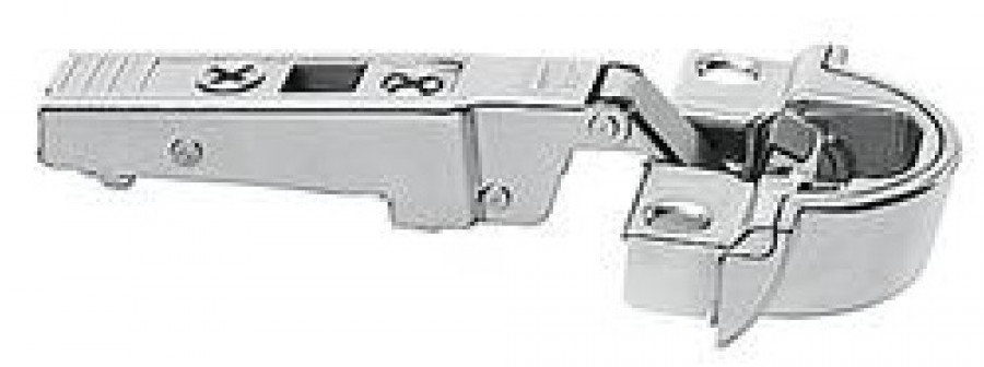 CLIP top BLUMOTION profile door hinge 95°, OVERLAY for aluminium framed doors, NP
