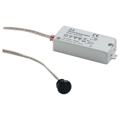 Sensor switch, 240V/250W, IR Syncro, stay on/stay off, motion sensor