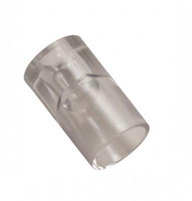 Plastic shelf bearer, 19x11 mm, clear