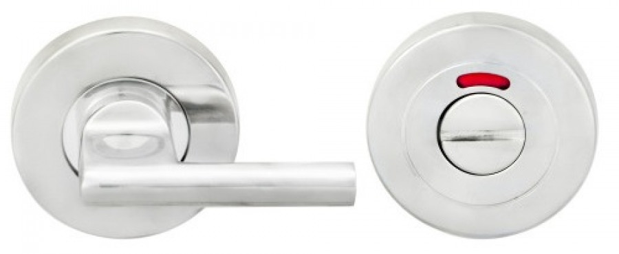 WC thumbturn and release, Ø 53 mm, stainless steel, satin