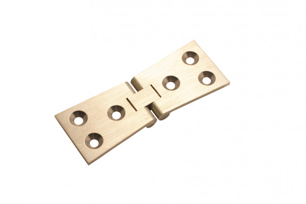 "Counter hinge, 1 1/4x4"", brass, linished"