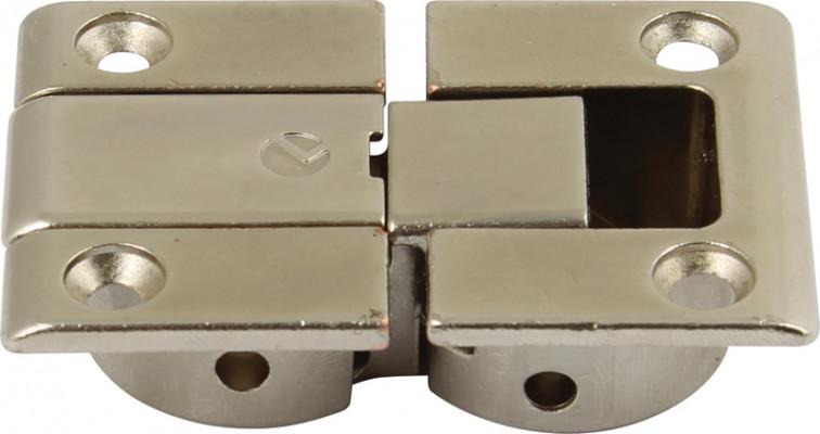 Flap hinge, set, 90ø, for flaps or lid stays, kimana, nickel steel