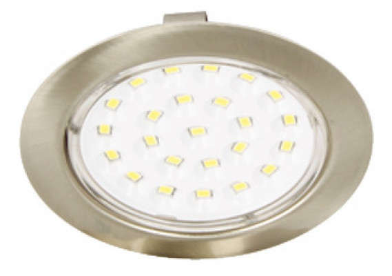 LED round downlight 12V/2W, Ø 69 mm, IP20, daylight white 6000 K