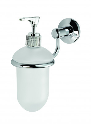 De L'eau Tempo Glass Liquid Soap Dispenser & Holder