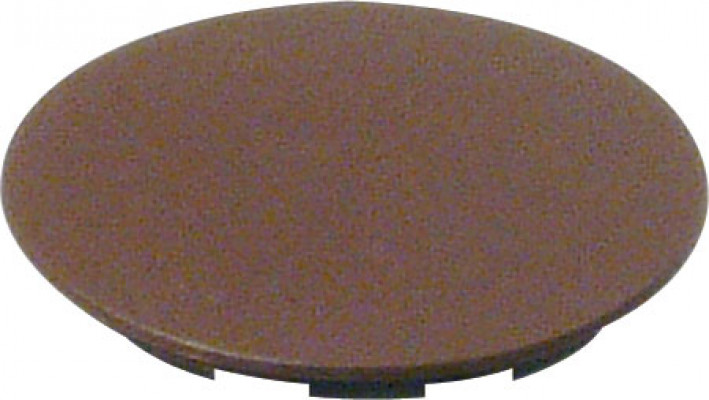 Cover cap, plastic, for maxifix housing, brown RAL 8007, ø 38.5 mm