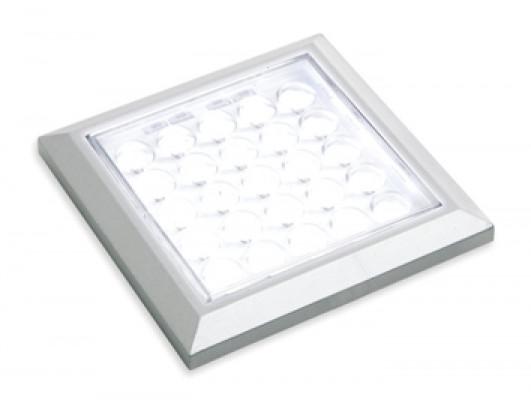 LED spotlight 12 V, 64x64 mm, IP 20, Loox LED HE matrix, choice bezels, warm white 3200 K