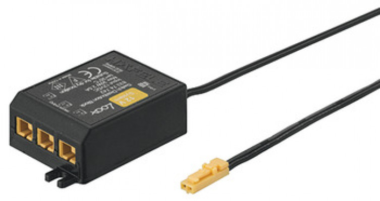 Distributor 12V, 3 way with switch function, for LOOX, black