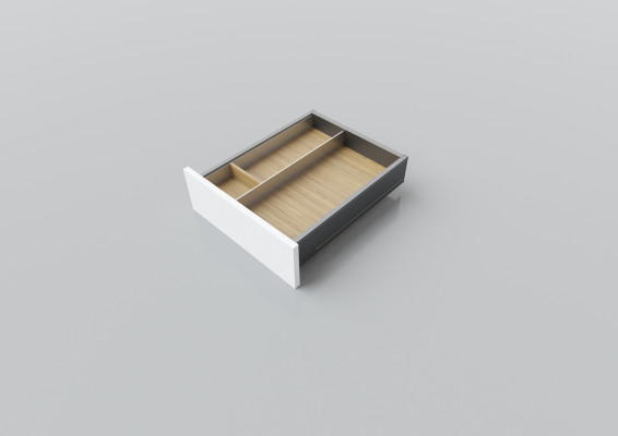 Cutlery divider for LEGRABOX/TA'OR C=400-450 mm, NL=450 mm, oak