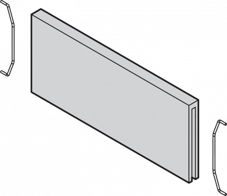 AMBIA-LINE cross divider for LEGRABOX, width=100 mm, nebraska oak