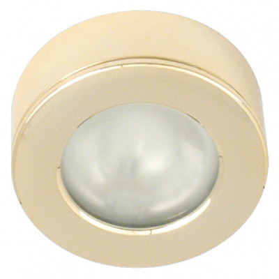 Halogen downlight 12V, 68 mm, rated IP20, 10W round light packed set, matt nickel