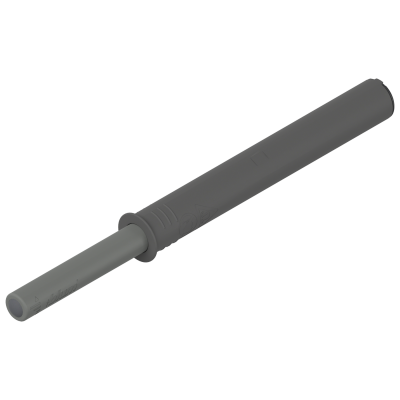 TIP-ON for doors, long version, 76mm, with bumper, dust grey