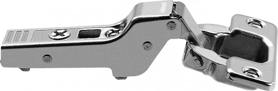 CLIP top hinge 107°, dual applications, boss: screw-on