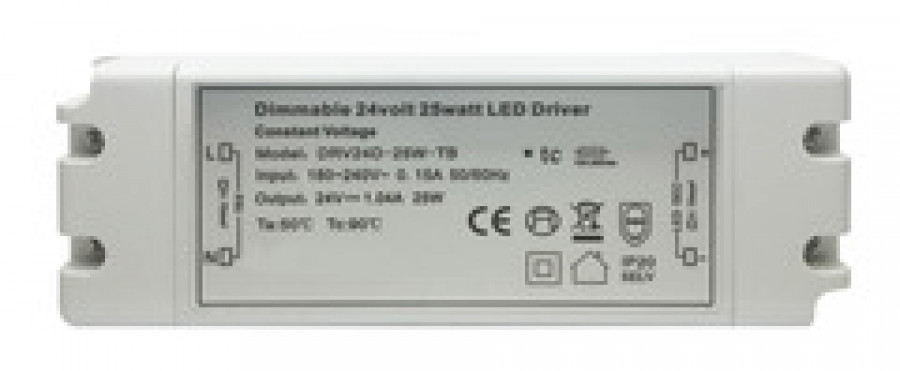 LED driver, dimmable, 12V/30W, 6 way, TOP socket, 1M cable