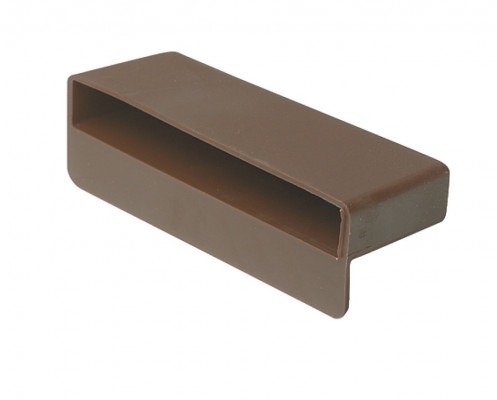 Slat pocket, rigid, plastic, for use with 12x100 mm wooden slats, brown