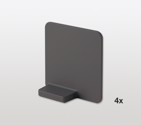 Magnetic divider for LIBELL shelves x4, PEKA, anthracite