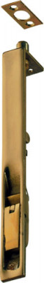 Flush bolt, lever action, brass or aluminium, 152x19 mm, polished
