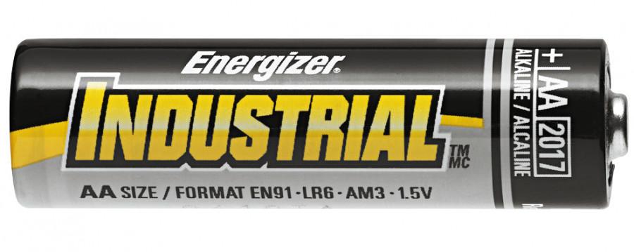 Battery, alkaline manganese, 1.5 v type E91, Energizer, AA