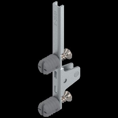 LEGRABOX front fixing bracket, height K (144 mm), EXPANDO, symmetrical