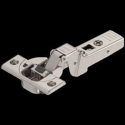 CLIP top BLUMOTION profile door hinge 95°, DUAL applications, boss: SCREW-ON, nickel
