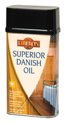 Superior danish oil, with uv filters, size 250 ml,5 litre, for wood care, size 1 litre