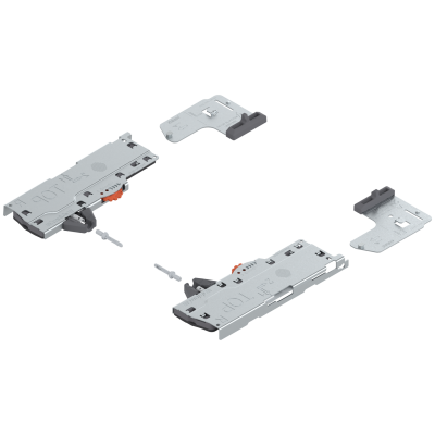 TIP-ON BLUMOTION (unit+latch) for LEGRABOX/MOVENTO, type S0, NL=270-320 mm, upto 10 kg