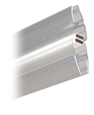 Shower seal, L=2010 mm, for toughened glass doors 6-8 mm thick, transparent PVC