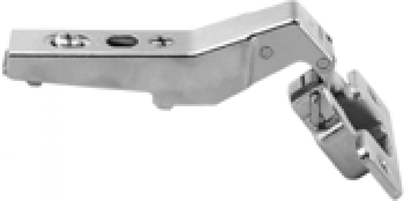 CLIP top angled hinge 45°, HALF OVERLAY, boss: screw-on, NP