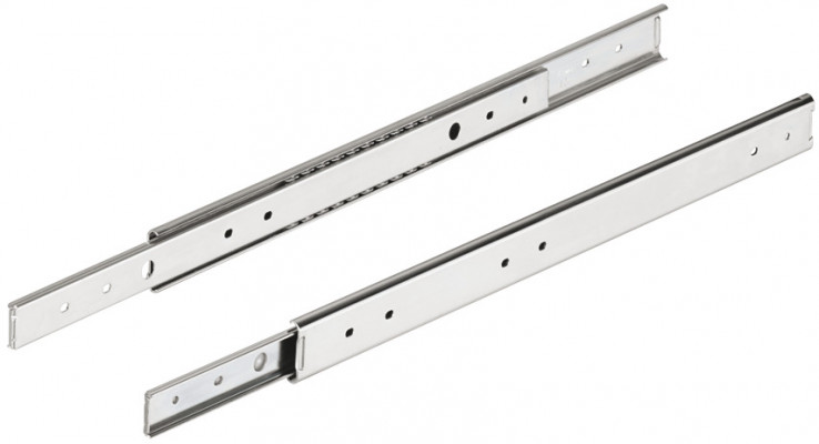 Ball bearing two way drawer runner, single extension, cap 35 kg, 600 mm, Accuride 2026