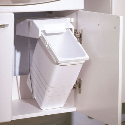 Waste Bin Pl White 8L