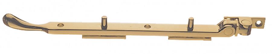 Casement stay, L=254/305 mm, brass, L=305 mm, polished