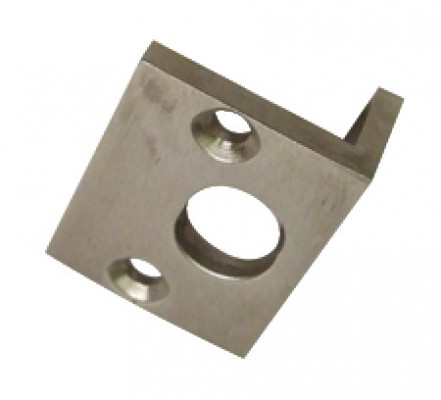 Angled striking plate, to suit straight barrel bolts, polished