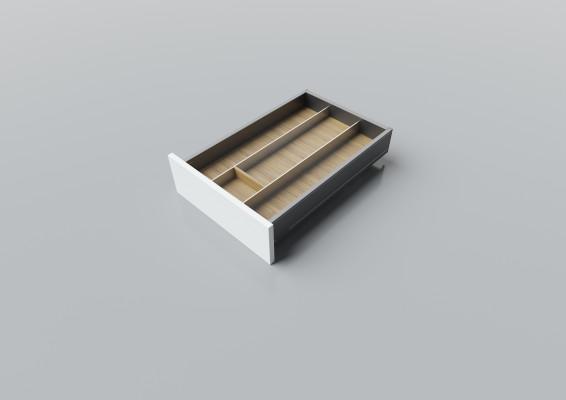 Cutlery divider for LEGRABOX/TA'OR C=400-450 mm, NL=550 mm, oak