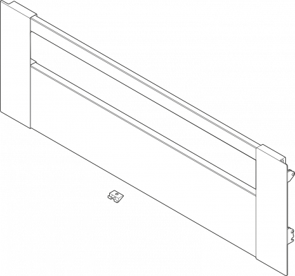 LEGRABOX front for inner drawer & pull-out, height C (177 mm), CW=300 mm, stainless steel