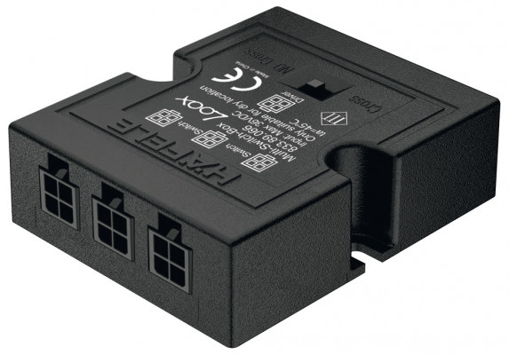 LED Multi switch box, 40X38X17mm, for operating 1 driver with up to 3 switches, black