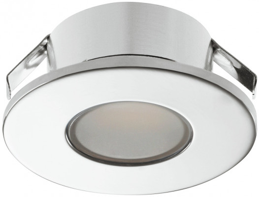LED downlight 1.5W/12V,  35 mm, IP44, Loox LED 2022, warm white 3000K, chrome