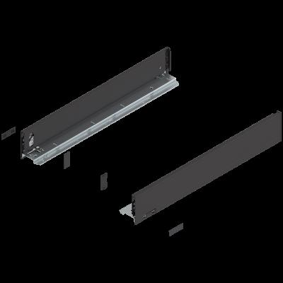 LEGRABOX drawer side, height M (91 mm), NL=550 mm, left+right, terra black